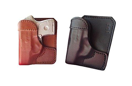 J&J Custom Fit SIG SAUER P938 Formed Wallet Style Premium Leather Back/Cargo Pocket Holster (Brown, RGHT)
