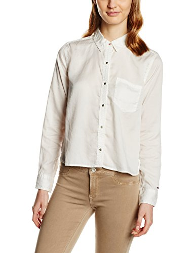 Tommy Hilfiger Nikisha Shirt l/s Maglietta, Bianco (Egret-pt 3), SM Donna