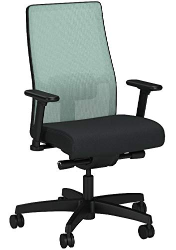 Product Image 9: HON Ignition 2.0 Mid-Back Adjustable Lumbar Work Fog Mesh Computer Chair for Office Desk (Black Fabric)
