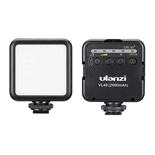 Luce video ricaricabile a LED Luce morbida ricaricabile per OSMO Mobile 3 Pocket Smooth 4 Sony RX100 VII Canon G7X Mark III A6400 6600 GoPro 8 7 6 5