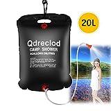 Qdreclod Sac de Douche Solaire Camping 20L Voyage Chauffé à L'énergie Solaire Portable Eau Chaude...