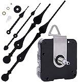 EMOON High Torque Clock Movement Mechanism with 11 Inch Long Spade Hands, Quartz Clock Motor Kit for Custom Repair Clock, Total Shaft Length 7/8 in