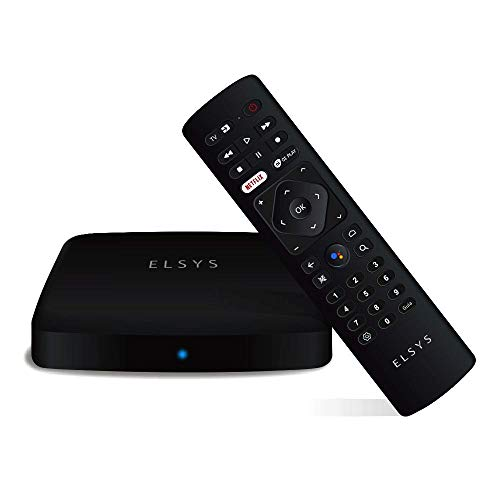 TV Receiver Via Internet Streaming Box Elsys, Android TV - ETRI02, 4K and Digital TV Converter