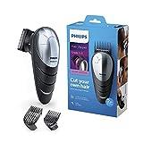 Philips Headgroom QC5570/13 cortadora de pelo y maquinilla Negro, Plata Recargable - Afeitadora (Negro, Plata, 0,5 mm, 1,5 cm, 4,1 cm, Acero inoxidable, 60 min)