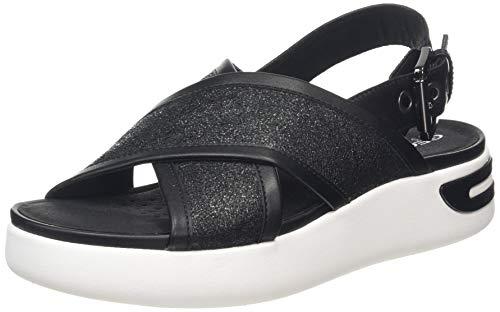 Geox D OTTAYA Sandal A, Sandalias de Talón Abierto, Negro (Black C9999), 35 EU