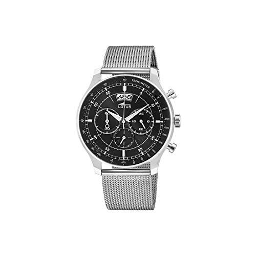 Lotus Herren Chronograph Quarz Uhr mit Edelstahl Armband 10138/4