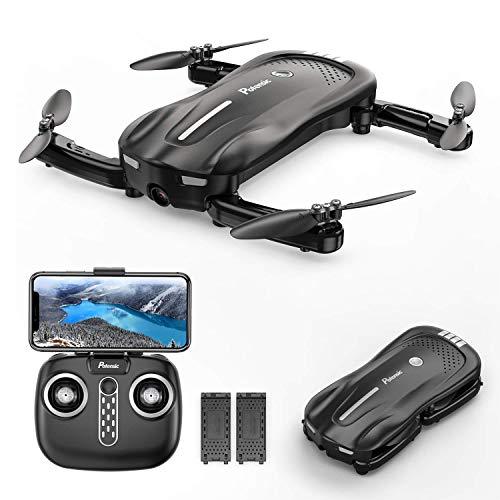 Potensic Drone Pieghevole con Fotocamera 1080P a Flusso Ottico D18 WiFi PFV Quadricottero con Due Batteria 16-20 Minuti...