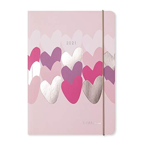 Matilda MOO 2021 Flex Cover A5 - Agenda semanal, color rosa