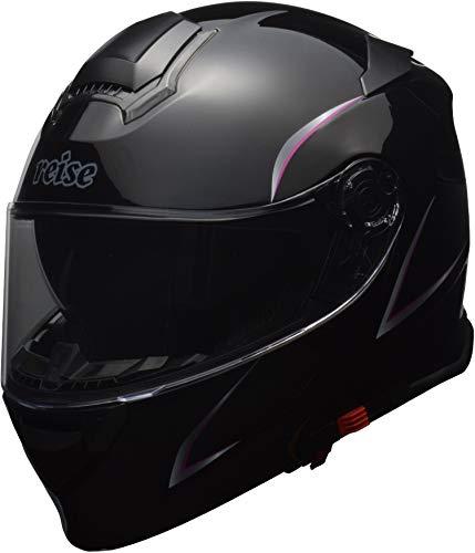 リード工業(LEAD) バイク用 インナーシールド付き レディース システムヘルメット reise (レイス) ブラック Mサイズ (57-58cm未満)