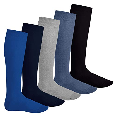 Footstar 5 paia di calze al ginocchio unisex EVERYDAY! - Colori jeans 47-50