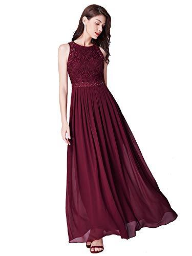 Ever-Pretty A-línea Vestido de Fiesta Cuello Redondo sin Ma