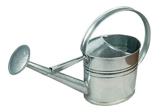 HRB Zinkgießkanne 5 oder 10 L, Gießkanne feuerverzinkt, Metallgießkanne (Zinkgießkanne, 10 L)