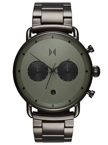 MVMT Herren Analog Quarz Armbanduhr mit Edelstahlarmband D-BT01-OLGU
