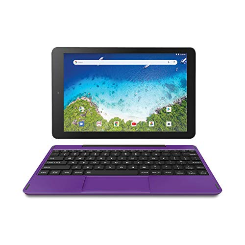 Newest Premium High Performance RCA Viking Pro 10.1' 2-in-1 Touchscreen Laptop Computer Tablet Quad-Core 1G Memory 32GB Hard Drive Detachable-Keyboard Android 8.1
