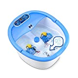 JSB HF37 Foot Spa Massager with Auto-Rollers Digital Control Heating Temperature Control Bubble Bath Pedicure for Foot Care, Pain Relief & Relaxation