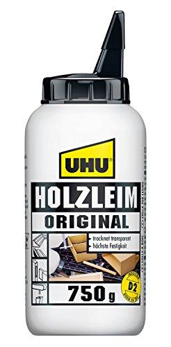 UHU Holzleim Original Flasche, Universeller Weißleim - geeignet für alle üblichen Holzarten und -verklebungen, 750 g