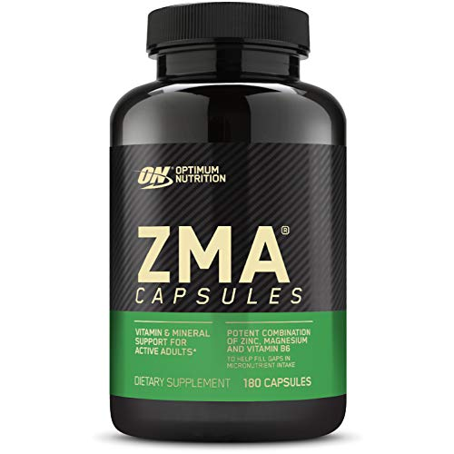 OPTIMUM NUTRITION ZMA, Zinc for Immune Support, Muscle Recovery and Endurance Supplement for Men and Women, Zinc and Magnesium Supplement, 180 Count