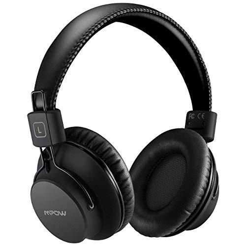 Mpow H1 Cuffie Bluetooth, Cuffie Bluetooth Over-Ear 4.1, Autonomia 25 Ore, Cuffie Wireless Con Microfono e Hi-Fi Suono e Bassi Ricchi, Passiva Riduzione di Rumore, Cuffie Per Celluallari/PC/TV-Nero