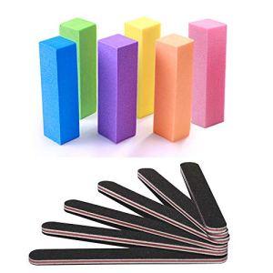 Nail Files and Buffer, TsMADDTs Professional Manicure Tools Kit Rectangular Art Care Buffer Block Tools 100/180 Grit… 48