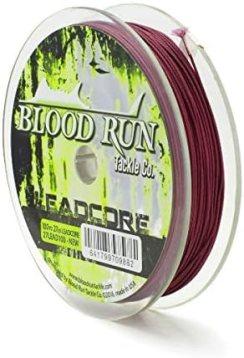 27LB Lead Core Fishing Line Blood Run Tackle 100 Yard Spool
