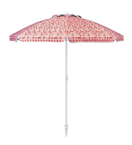 Sport-Brella Core Vented SPF 50+ Upright Beach Umbrella (6-Foot), Tile Wave Orange