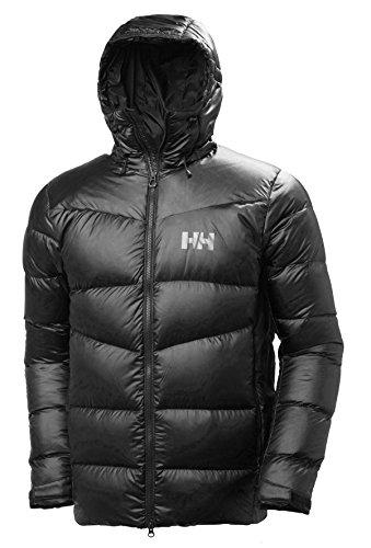 Helly Hansen Vanir Icefall Down Chaqueta Suave y cálida de plumón de Ganso Europeo, Prenda de Invierno para Hombre, Negro, L