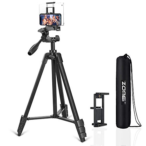 Phone Tripod, Stable Aluminum Tripod for Phone,Ipad,Light Camera, Cell Phone Tripod with Wireless Remote Control for Live Streaming Tiktok YouTube Video Recording
