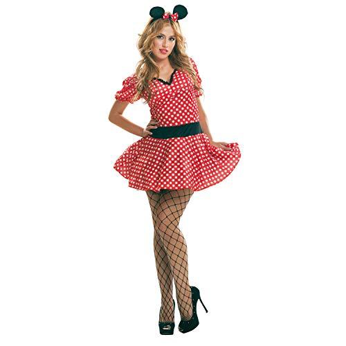 My Other Me - Disfraz de ratoncita sexy, para mujer, talla S, color rojo (Viving Costumes MOM02609)