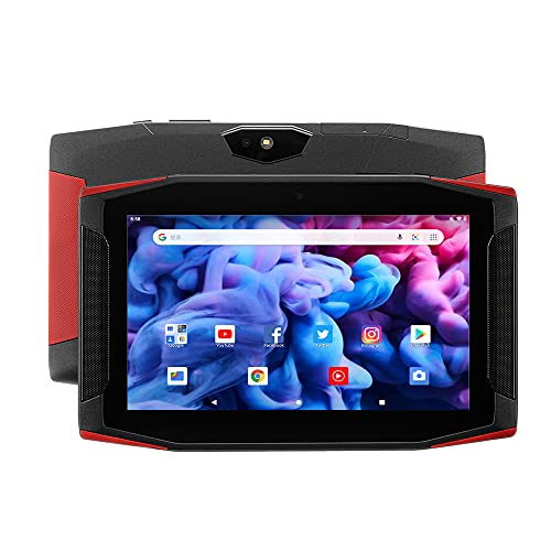 TJD MT-707,7 inch Gaming Tablet, Android Tablet,Qcta Core,2GB RAM, 32GB Memory,Wi-FI,Bluetooth,Dual Cameras, Black