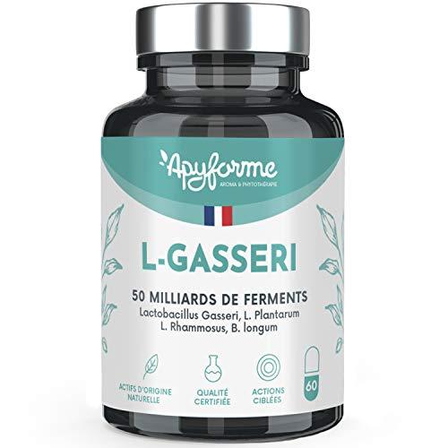 Lactobacillus Gasseri - Flore Intestinale Digestion et Minceur - Jusqu'à 50 Milliards d'UFC / Jour - Gélules Gastro-Résistantes - 100% FRANÇAIS - 60 gel - Fabriqué en France par Apyforme