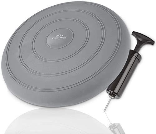 Everest Fitness Coussin gonflable - Diamètre : 33 cm - Avec pompe à air -...