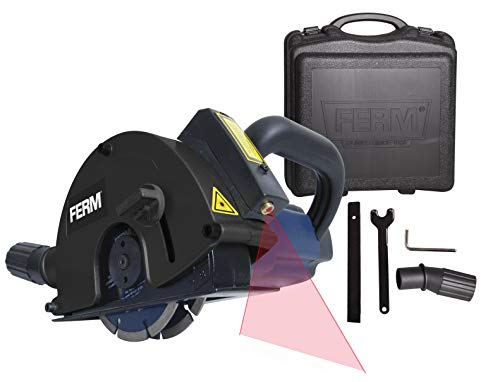 FERM Rainureuse 1700W 125mm - Laser - Incl. 2 lames diamant et adaptateur d'aspirateur