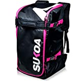 Ski Boot Bag Backpack 50L - Snowboard & Ski Boots, Helmet Travel Bag for Flying Air Travel - Ergonomic Skiing Gear Accessories (Gloves, Jacket, Goggles) Carrier Luggage with Adjustable Straps