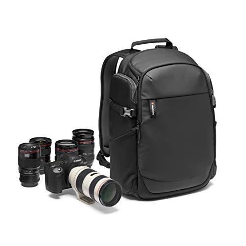 Manfrotto Zaino fotografico Advanced Befree, per laptop 15', Accesso Posteriore, Tasca Espandibile per Treppiede da Viaggio, per DSLR/Mirrorrless/CSC/Obiettivo Standard e Drone-Nero-MB-MA2-BP-BFR