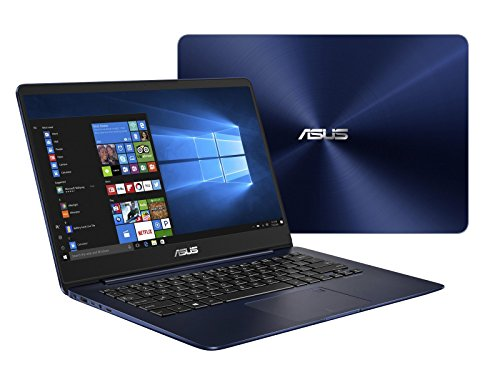 Asus ZenBook UX430UN-GV030T Ultrabook, Display da 14', Processore i7-8550U, 1.8 GHz, SSD da 512 GB, 16 GB DDR3, nVidia GeForce MX 150, Blu [Layout Italiano]