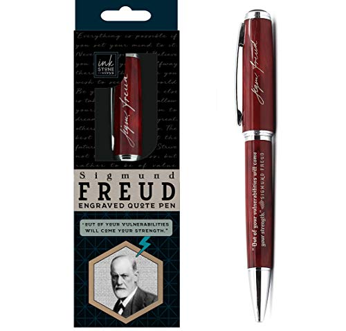 Sigmund Freud Engraved Quote Pen -' Out of Your Vulnerabilities Will Come Your Strength.' - Psychology Gifts for Psychologists Guidance Counselors Psychology Students Therapists