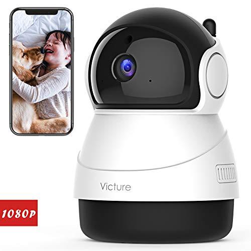 Victure FHD 1080P Telecamera di Sorveglianza WiFi,videocamera IP Interno Wireless con Visione Notturna, Audio Bidirezionale