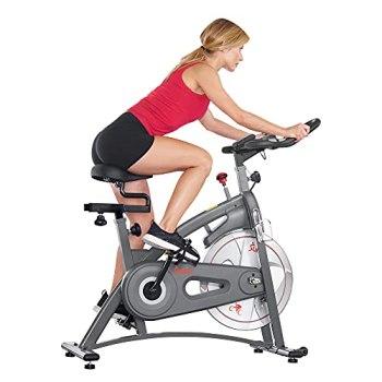 Sunny Health & Fitness Endurance Magnetic Belt Drive Indoor Cycling Exercise Bike Stationary Bike - SF-B1877