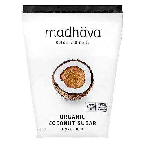 MADHAVA Organic Coconut Sugar 3 Lb. Bag (Pack of 1), Natural Sweetener, Sugar Alternative, Unrefined, Sugar for Coffee, Tea & Recipes, Vegan, Organic, Non GMO