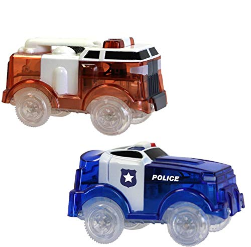 Ontel Magic Tracks - Fire Truck & Police Car