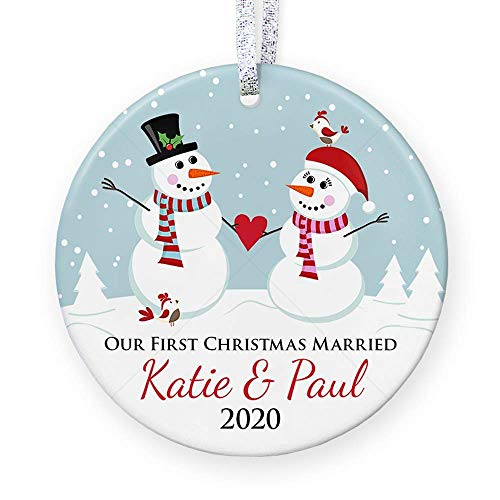 Our First Christmas Married Couple Ornament, Married...