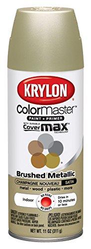 Krylon K05125307 ColorMaster Paint + Primer, Brushed Metallic,...
