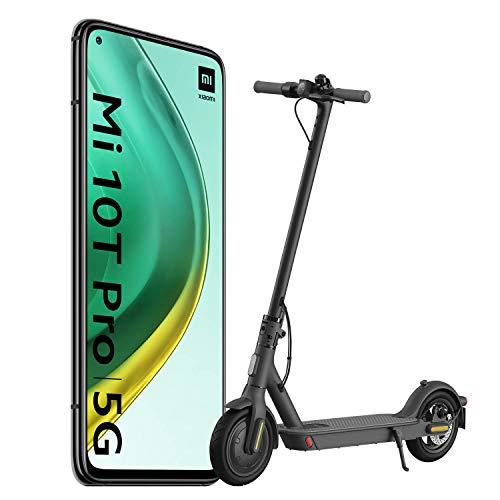 """Xiaomi Mi 10T Pro Pack de Lanzamiento (Pantalla 6.67"""" FHD+ DotDisplay, 8GB+128GB, Cámara de 108MP, Snapdragon 865 5G, 5.000mAh con carga 33W) Negro Cósmico [versión española] + Scooter Essential"""
