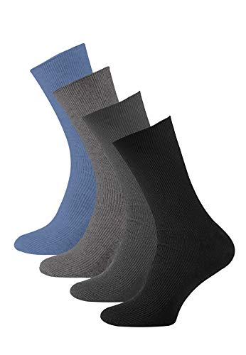 8paia di calzini uomo, adatti per persone diabetiche, senza elastico sul bordo, in cotone, punta...