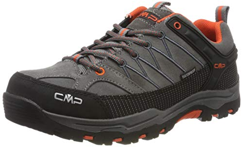 CMP Kids Rigel Low Shoes Wp Trekking-& Wanderhalbschuhe, Grau (Stone-Orange...