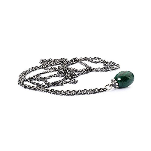 Trollbeads Collana da Donna con Ciondolo, Argento 925, Argento, Colore: Argento/Verde, cod. TAGFA-00038