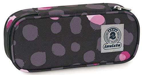 Bustina Round Plus Invicta Twist Eco-Material, Grigio, Scomparto attrezzato porta penne