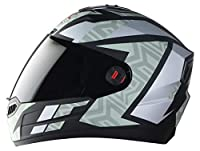 Graphics Helmet High Impact ABS Material Shell. Breathable Pedding and Neck Protector For Extra Comfort Italian Design Hygienic Interior with Multi pore Quick Release Micro Metric Buckle