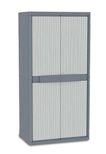 Terry Jumbo 2900 UW Armadio Alto in Plastica XL Tuttopiani, Grigio, 89,7x53,7x180 cm