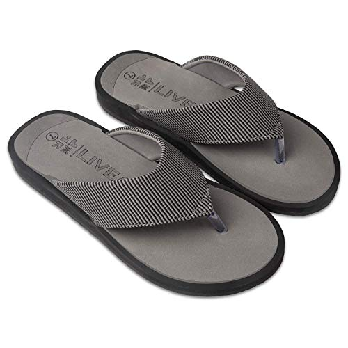 LivEasy Extra Soft Ortho Care Diabetic & Orthopedic Slippers / Doctor Slippers & Foortwear with Memory Foam - Men (Grey, numeric_7)